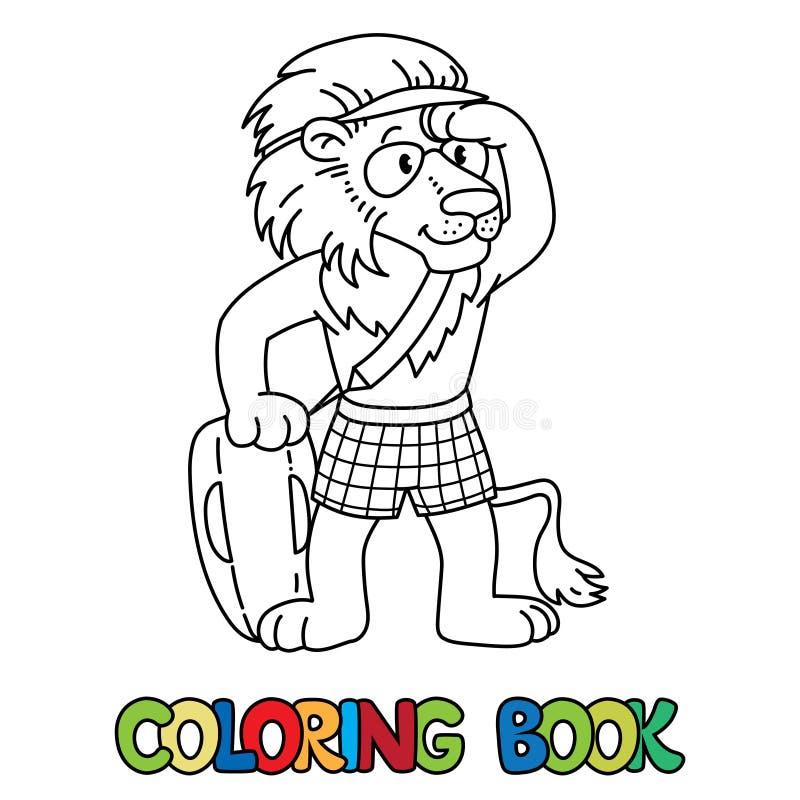 Leeuwbadmeester ABC die boekalfabet L kleuren royalty-vrije illustratie