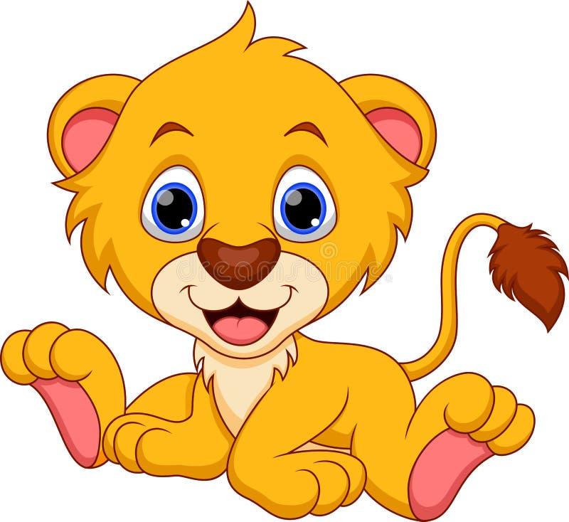 Leeuwbeeldverhaal vector illustratie