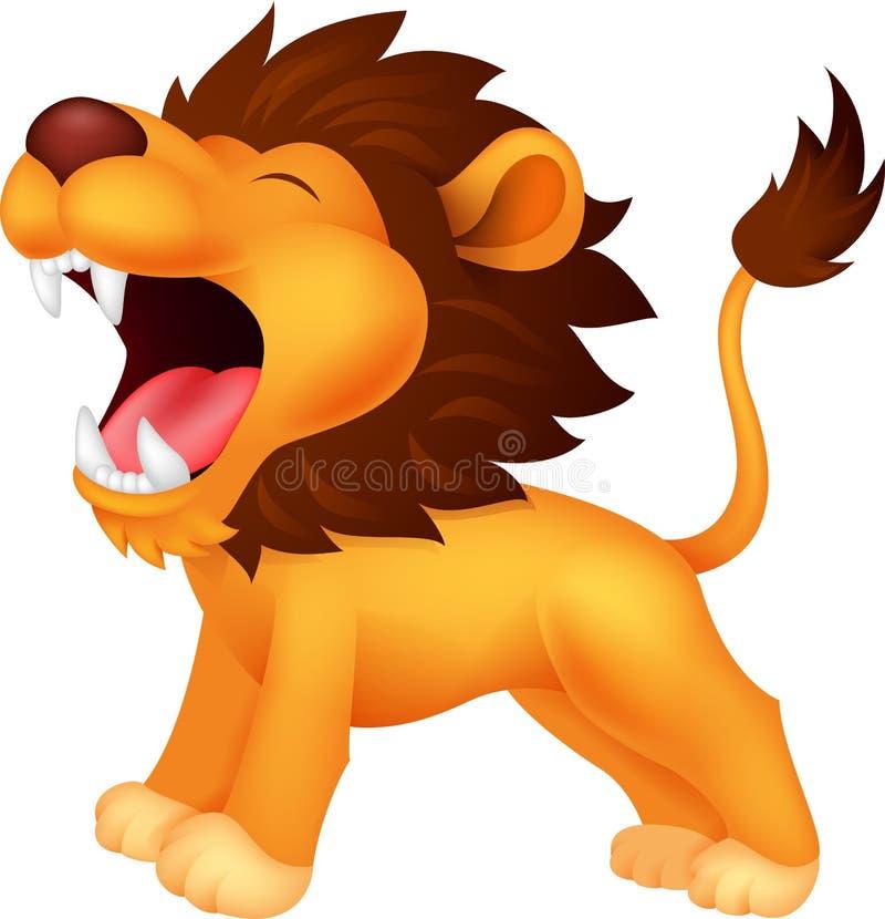 Leeuwbeeldverhaal gebrul stock illustratie