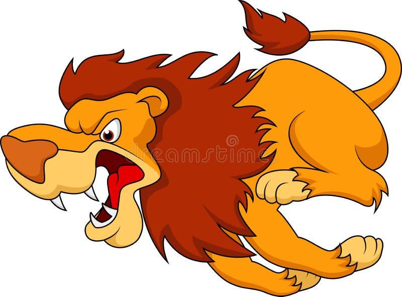 Leeuwbeeldverhaal het lopen stock illustratie