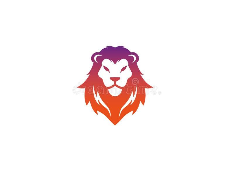Leeuwgezicht en hoofd voor de illustratie van het embleemontwerp vector illustratie