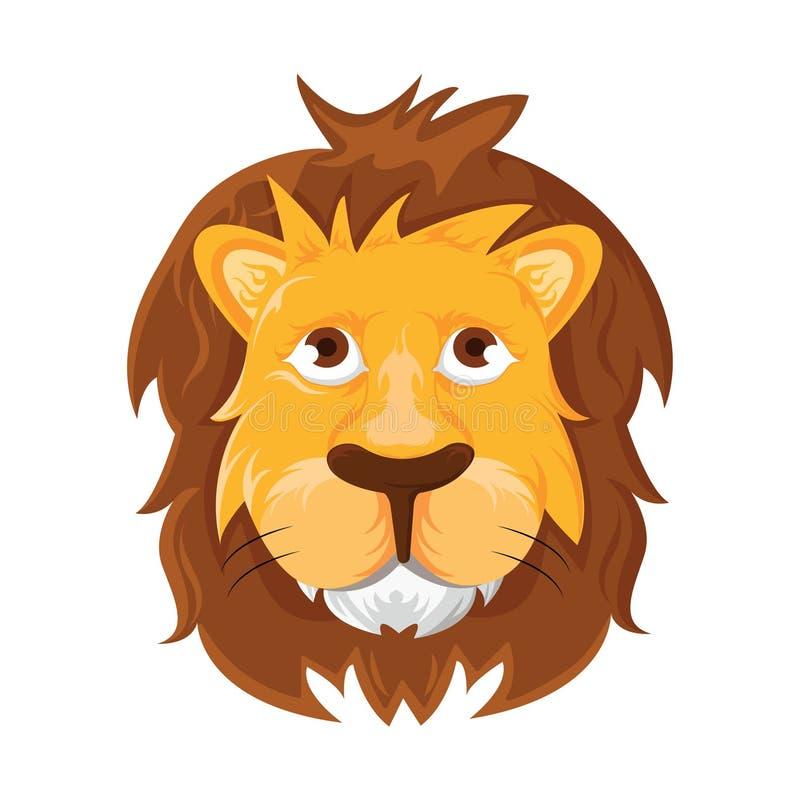 Leeuwhoofd - vectorillustratie vector illustratie