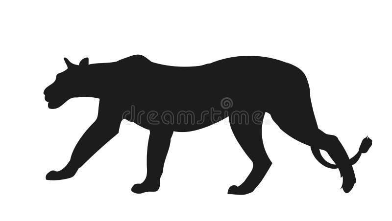 Leeuwinsilhouet, vector, stock illustratie