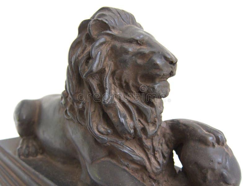 Leeuwstandbeeld stock foto