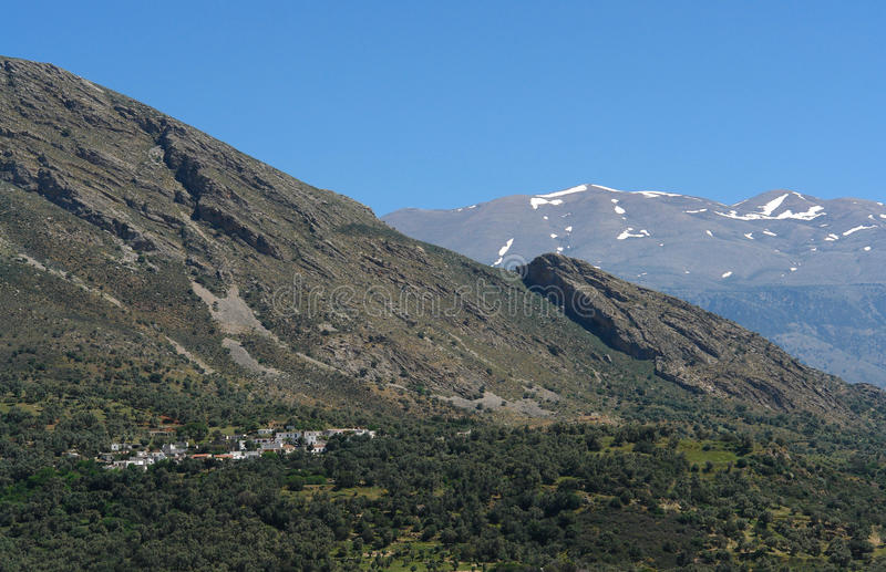 Download Lefka Ori Montains And Village  In Crete Stock Images - Image: 14513144