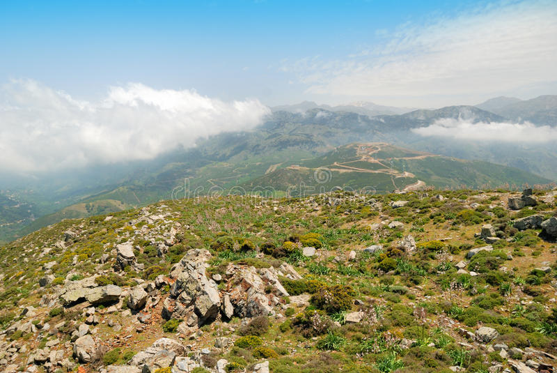 Lefka Ori mountain range on the island of Crete royalty free stock images