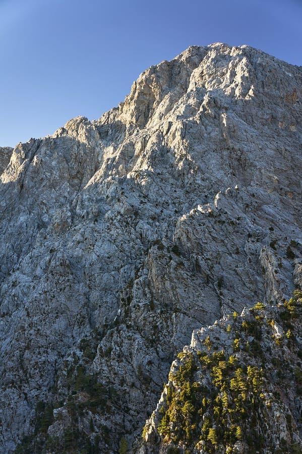 Lefka Ori - rotsachtig genaaid in de Witte Bergen stock afbeeldingen