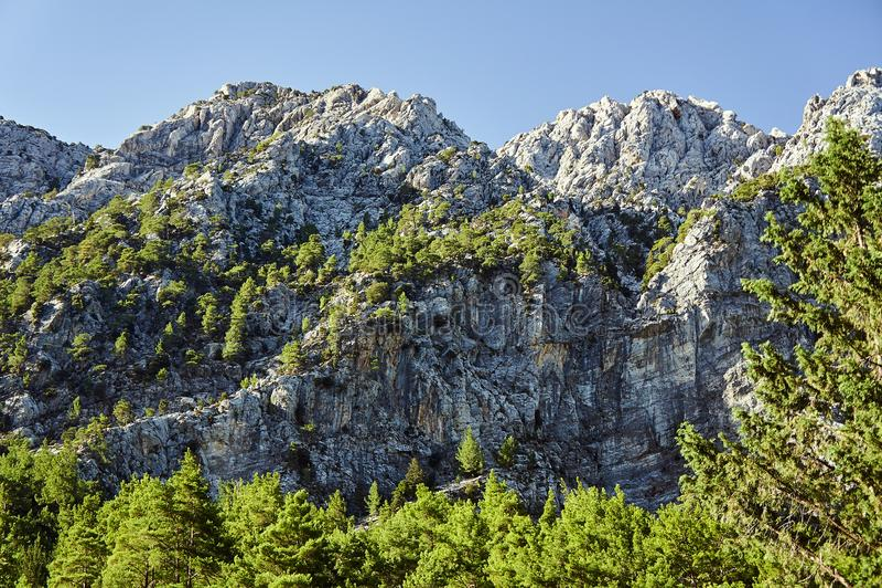 Lefka Ori - rotsachtig genaaid in de Witte Bergen stock foto