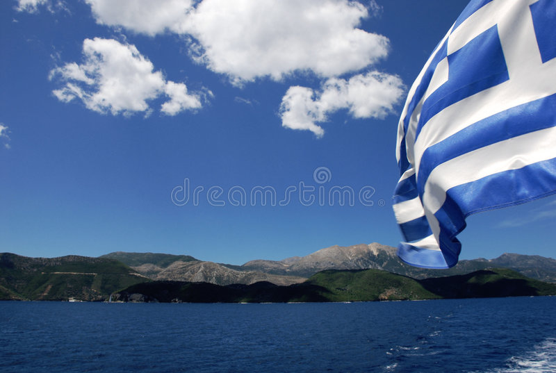 Download Lefkada Grecia fotografia stock. Immagine di bandierina - 7302026