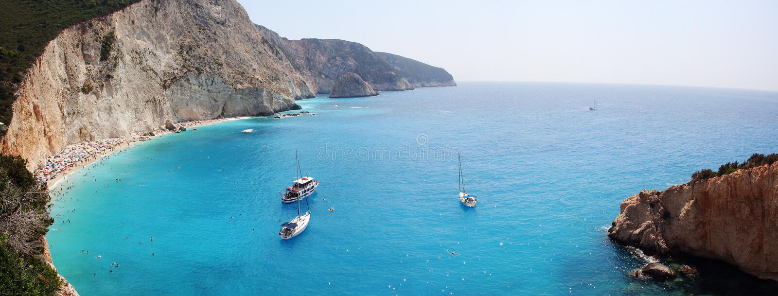 Lefkada, Porto Katsiki Panoramic Stock Photos