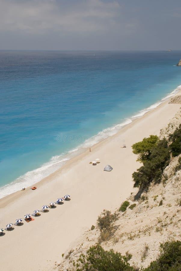 Lefkada's beach royalty free stock photography