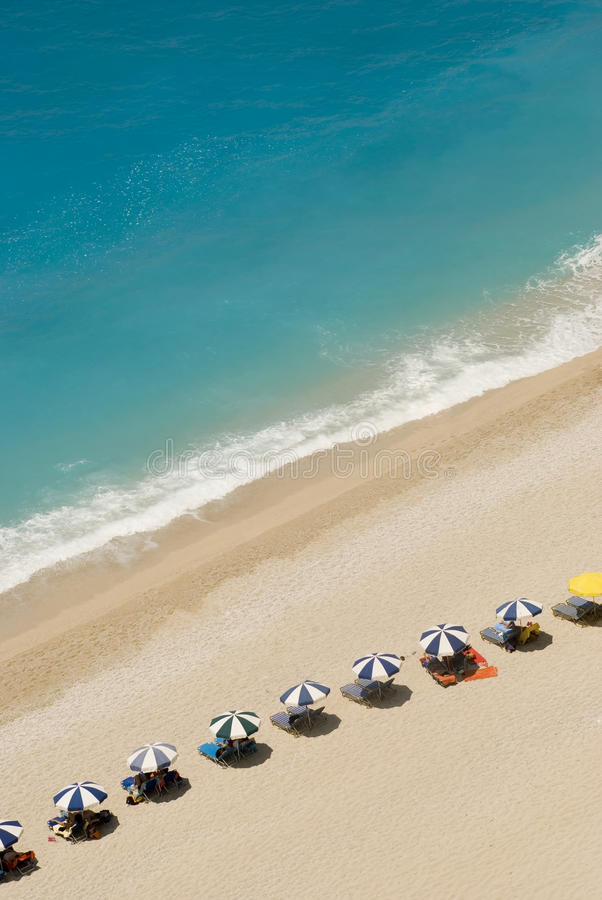 Lefkada's beach stock images
