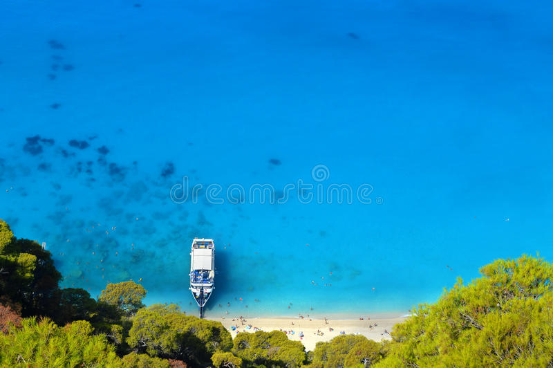 Lefkada: Wild And Beautiful Caribbean Seaside Stock Images