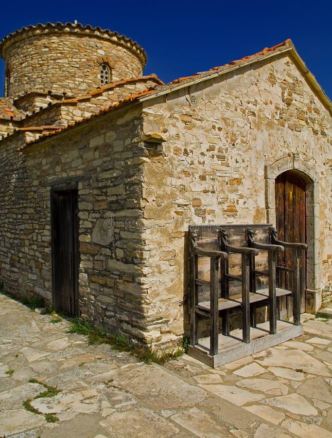 Lefkara church in cyprus royalty free stock photos