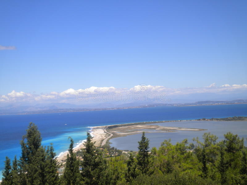 Lefkas city stock images