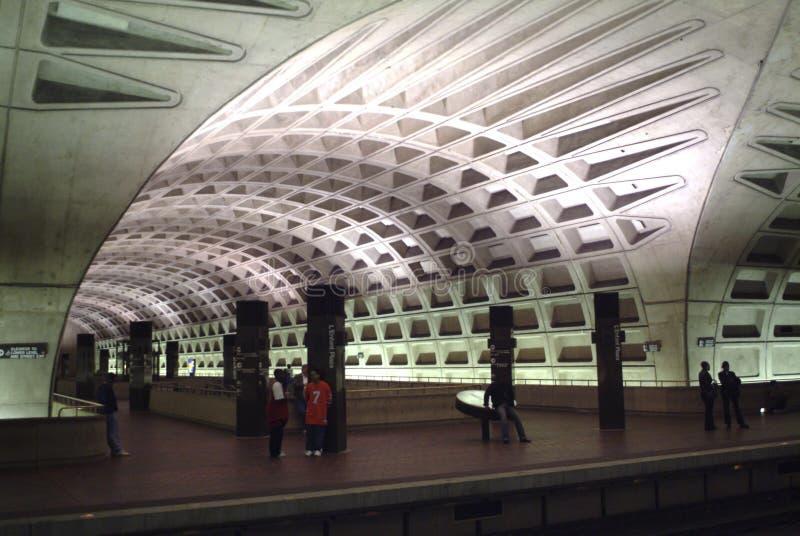 LeFont Plaza station at the Metro subway in Washington, DC royalty free stock photography