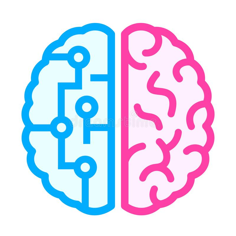 Free Left And Right Brain Icon Stock Photography - 140301602