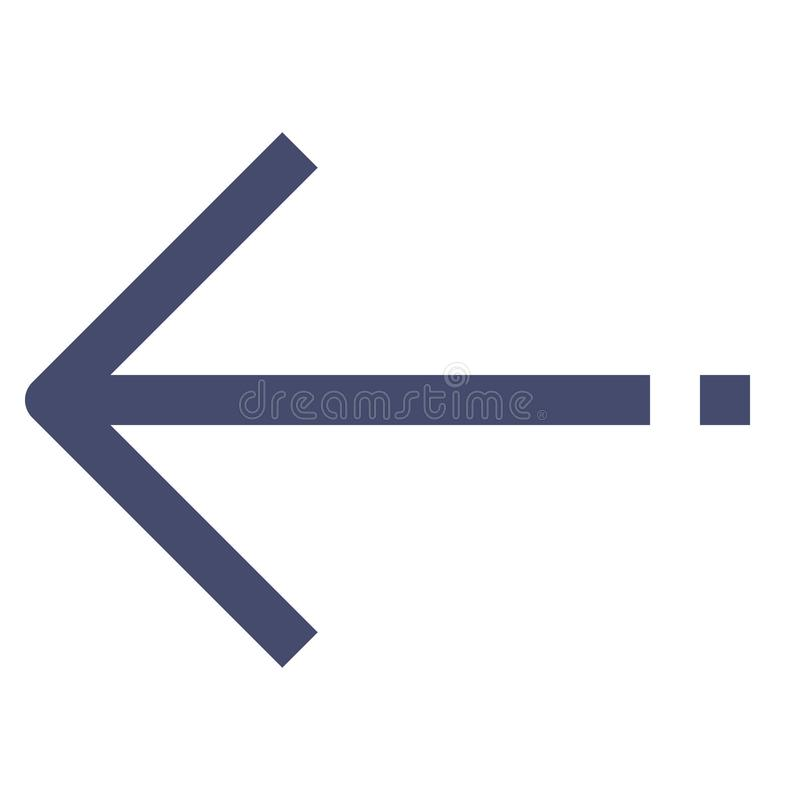 Left Arrow Vector Line Icon 32x32 Pixel Perfect. Editable 2 Pixel Stroke Weight. Direction Icon for Website Mobile App. Presentation vector illustration