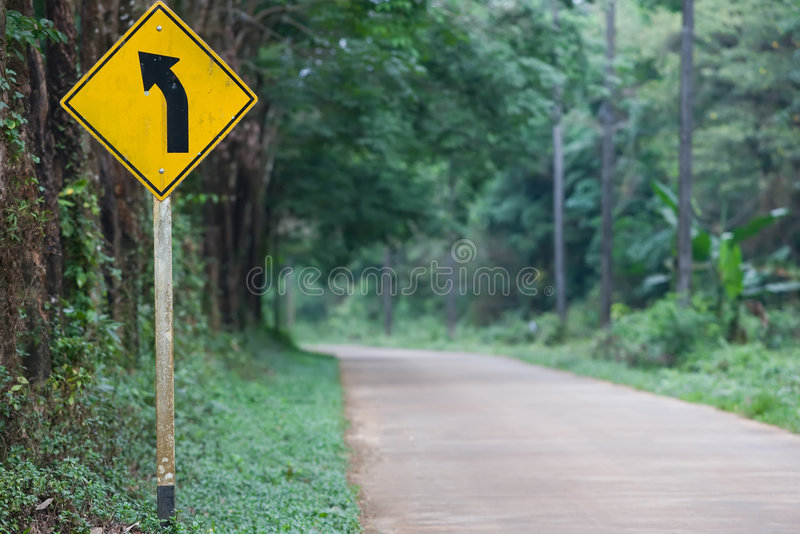Download Left Curve Ahead stock photo. Image of journey, roadside - 8489114