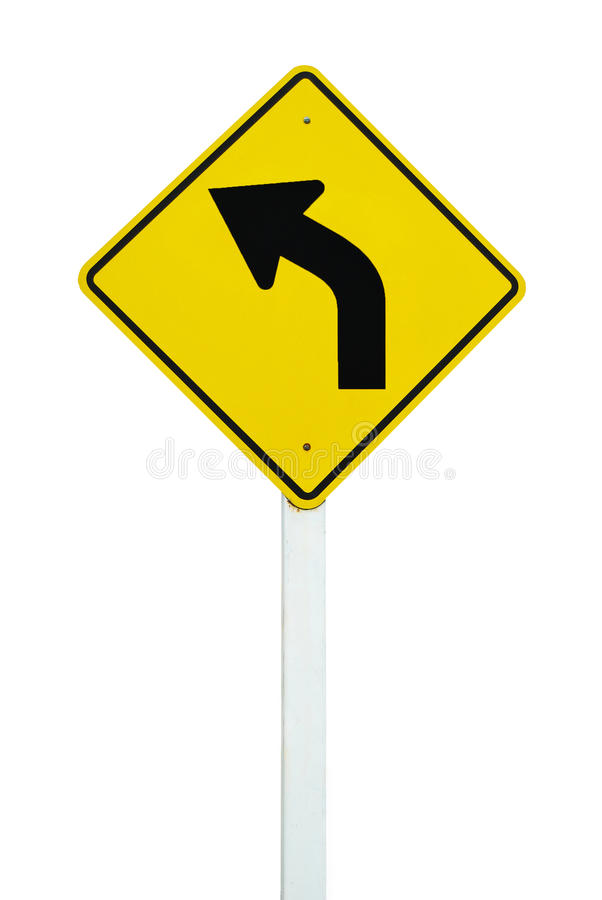 Free Left Direction Traffic Sign Isolated Royalty Free Stock Photos - 16677848