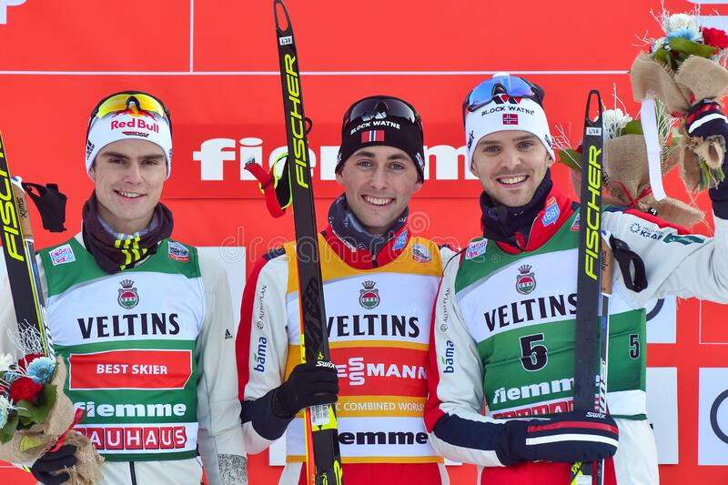 Nordic Ski FIS World Cup 2020 - Nordic Combined royalty free stock photo