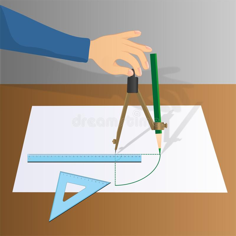 Left hand drawing a circle royalty free stock images
