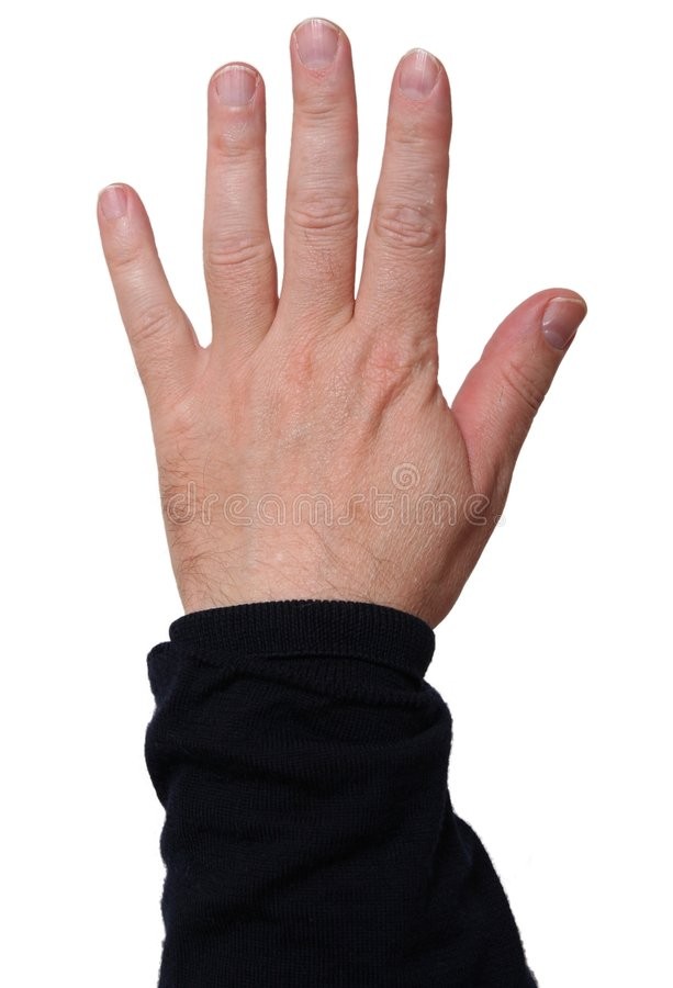 Download Left Hand Showing Five Fingers Stock Image - Image: 6523207