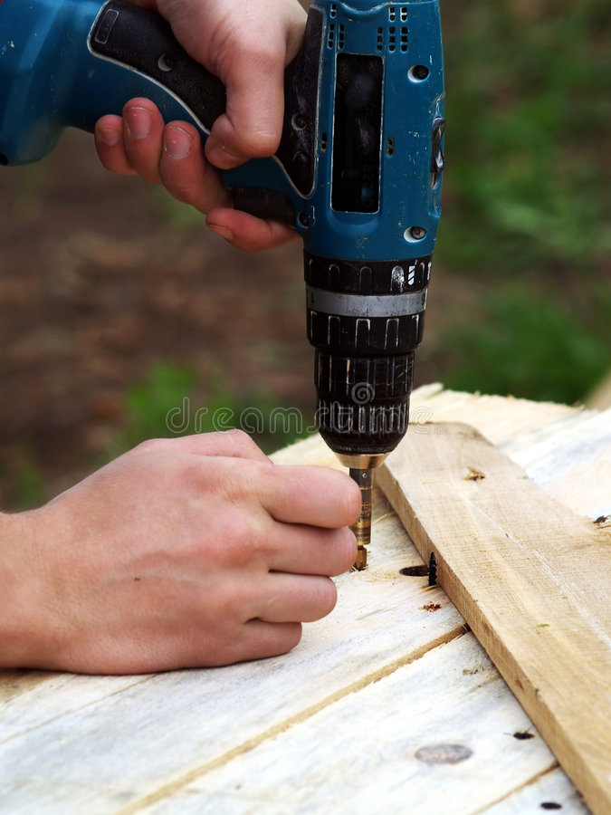 Left-handed carpentry royalty free stock images