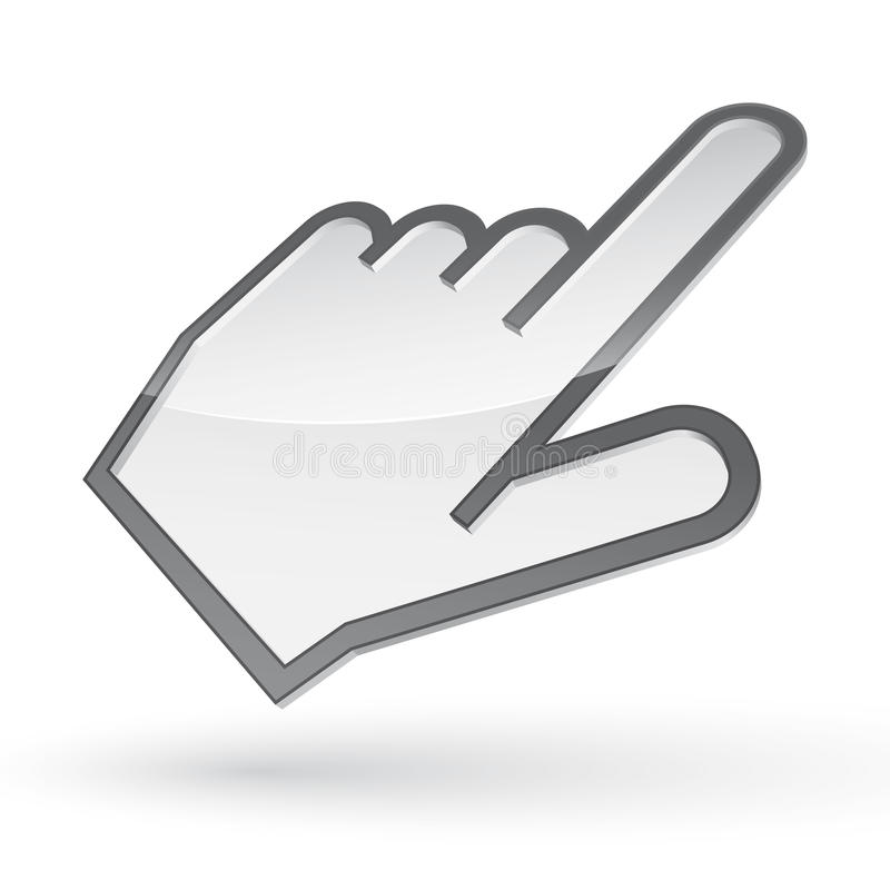 Left-handed cursor royalty free stock image