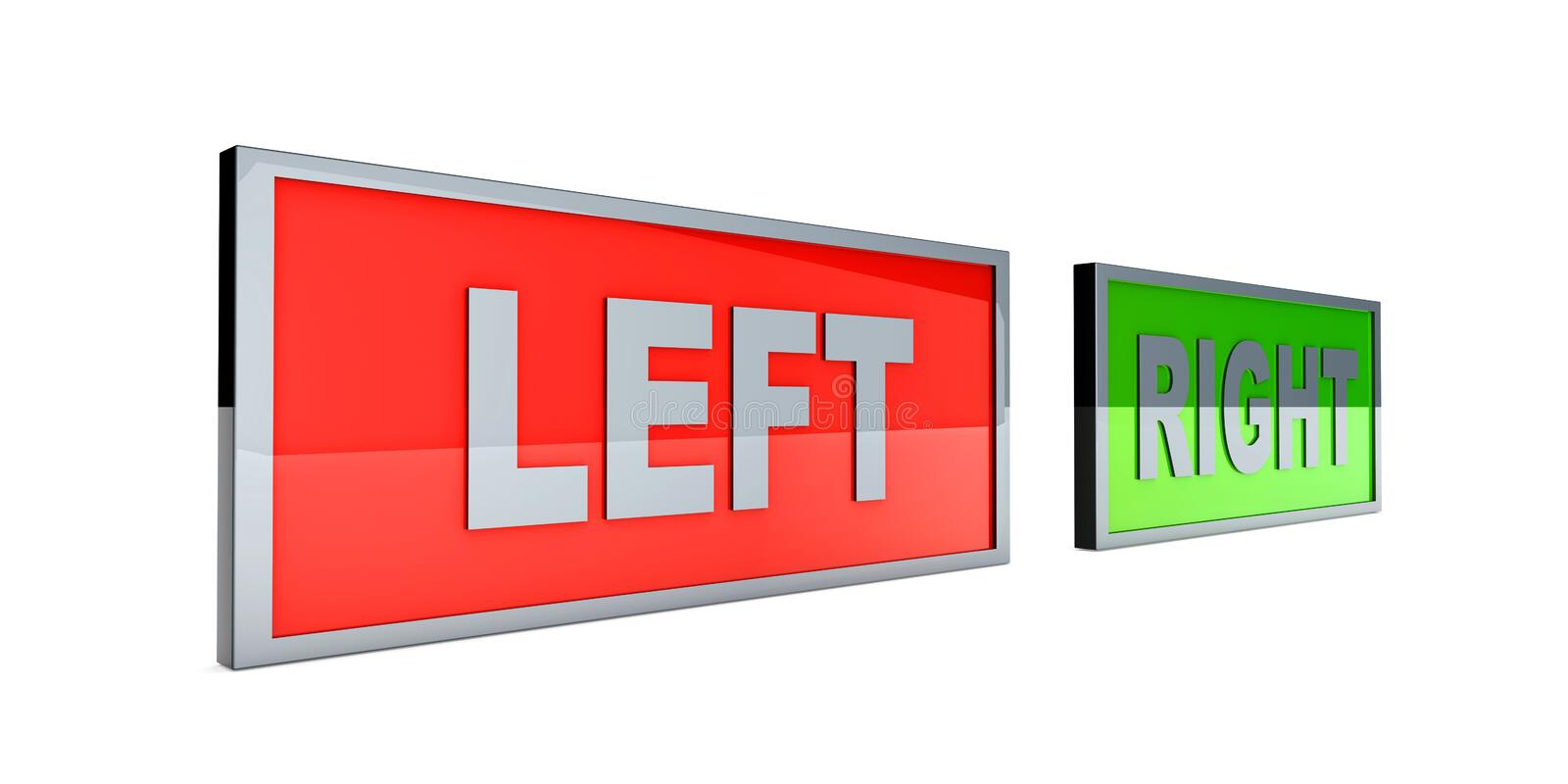 Download Left and right stock illustration. Image of direction - 26187324