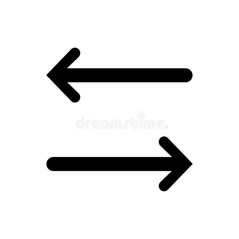 Left right arrow icon stock illustration