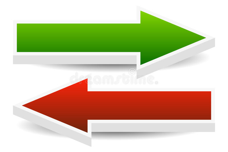 Left and Right Arrows stock illustration