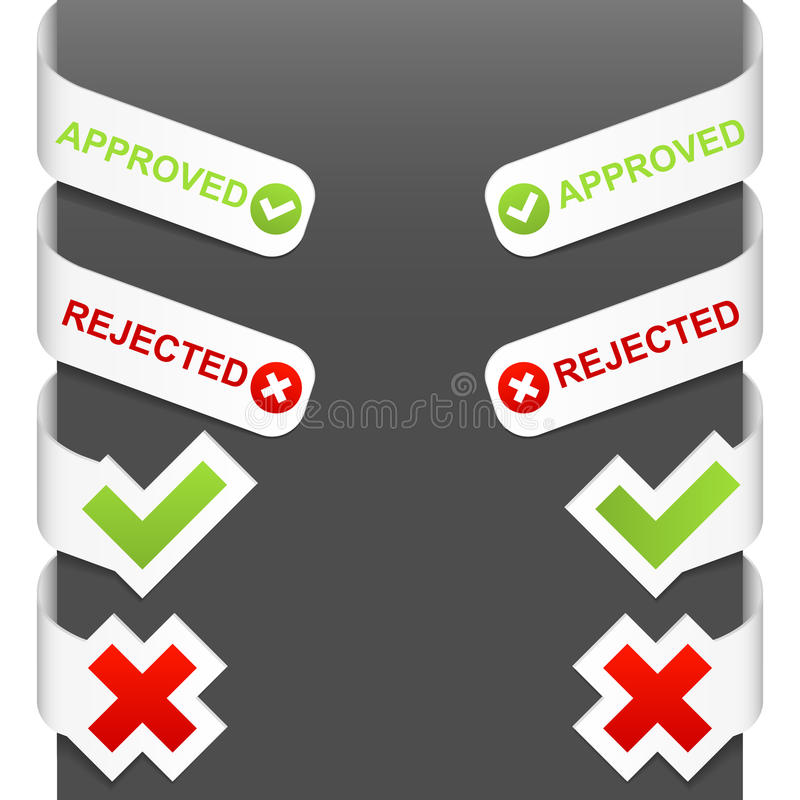 Download Left And Right Side Signs - Approved, Rejected Stock Vector - Image: 22094900