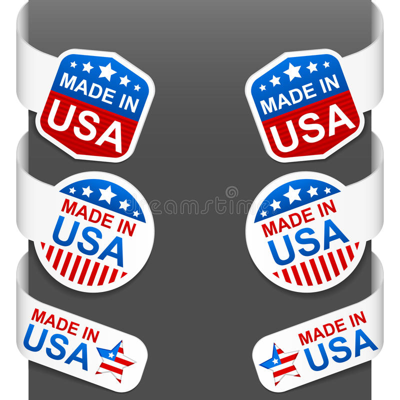 Download Left And Right Side Signs - Made In USA Stock Vector - Image: 21488944