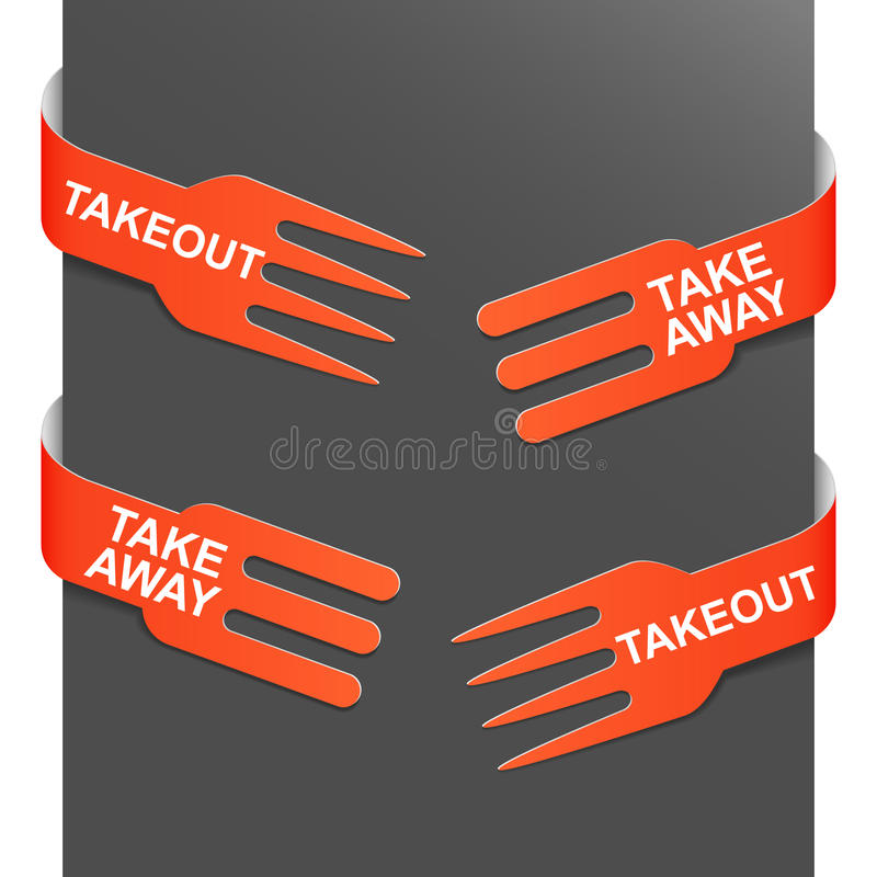 Download Left And Right Side Signs - Takeout And Takeaway Stock Vector - Illustration: 21210953