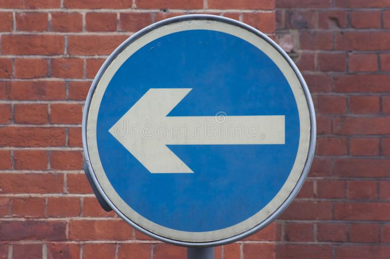 Left road sign royalty free stock photo
