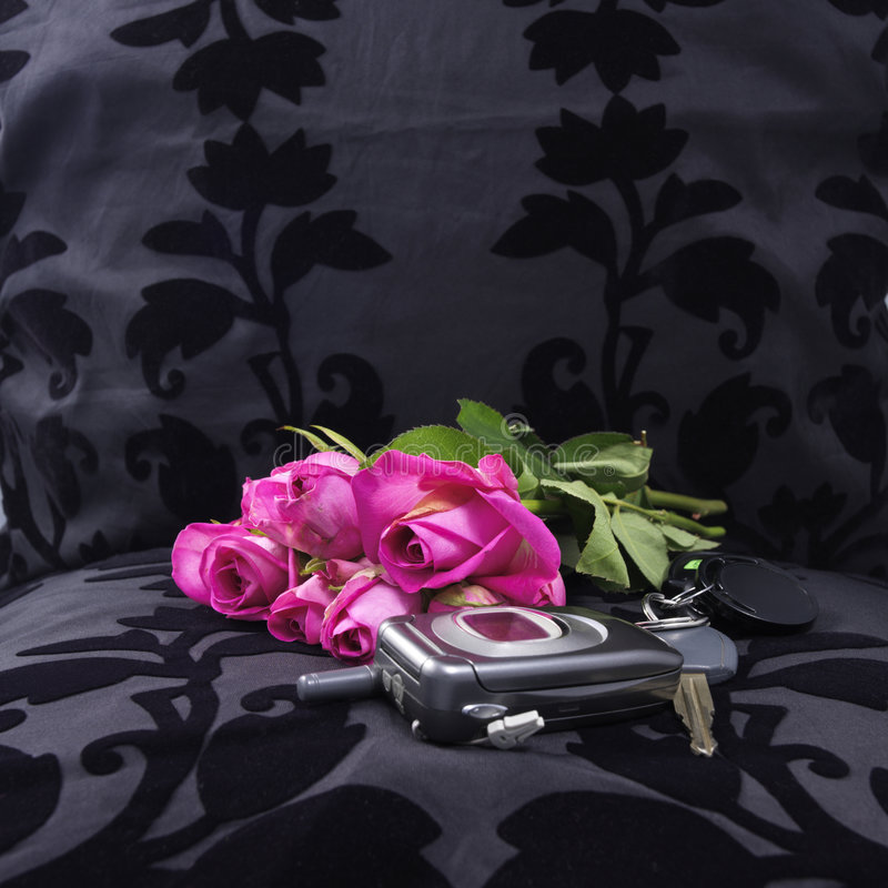Left at the seat (after a romantic dinner) stock image