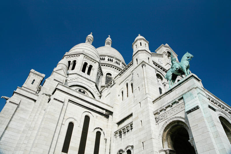 Left side Basilica Sacre Coeur in Pari stock photography