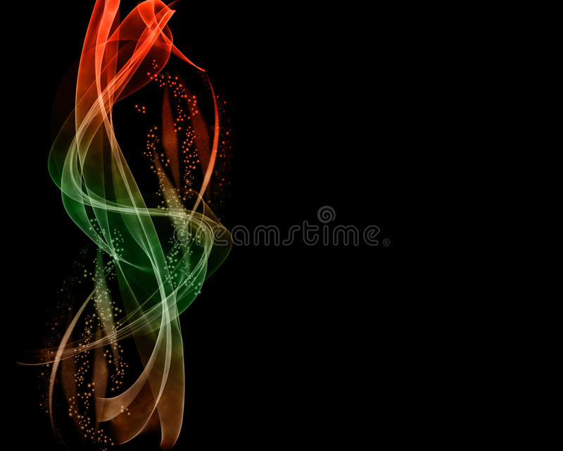 Left Side Electric Light Spiral on Black Background with spring royalty free stock image