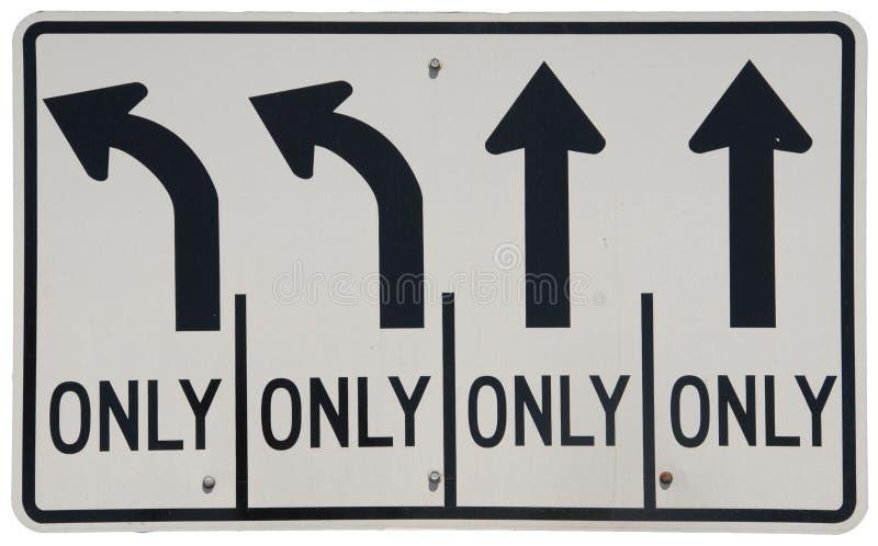 Left Turn & Thru Traffic royalty free stock photography