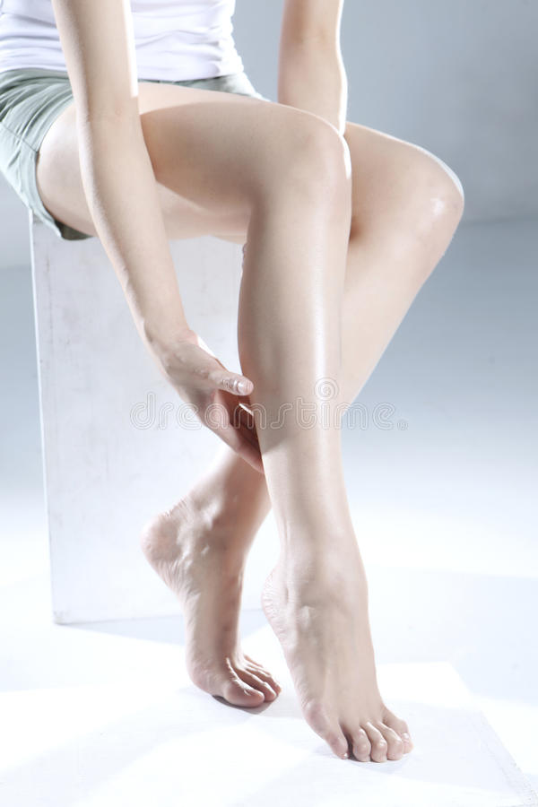 Leg care stock image