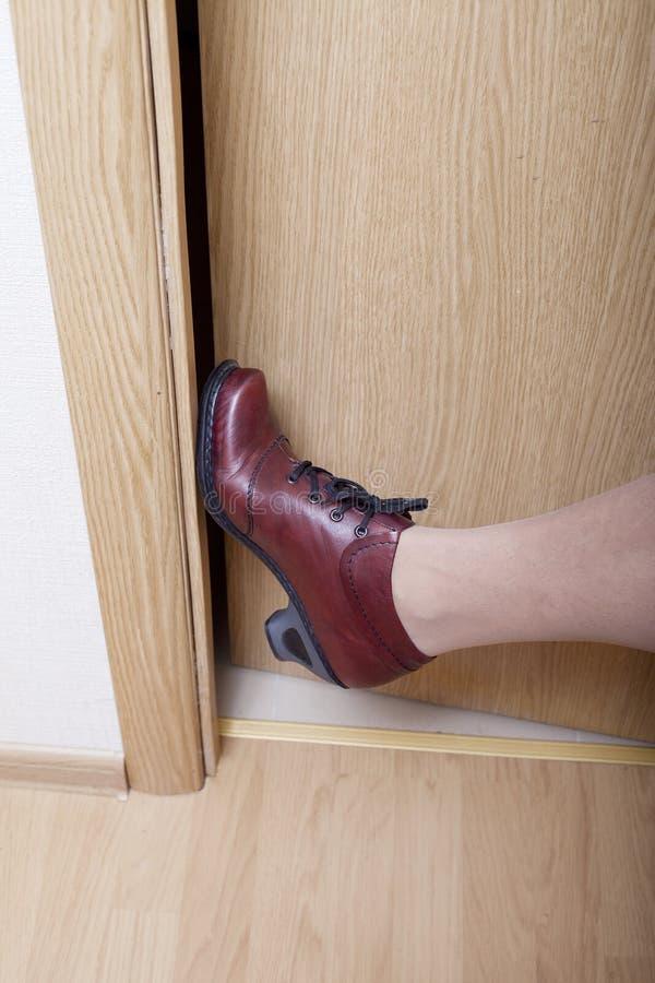 Download Leg and door. stock image. Image of wooden, door, access - 22876609