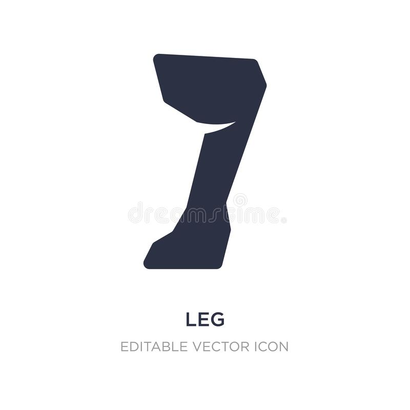 Leg icon on white background. Simple element illustration from Animals concept. Leg icon symbol design vector illustration