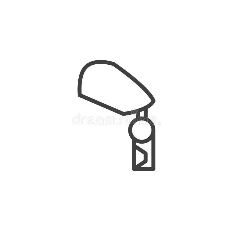 Leg knee prosthesis line icon. Linear style sign for mobile concept and web design. Orthopedic leg prosthesis outline vector icon. Symbol, logo illustration vector illustration