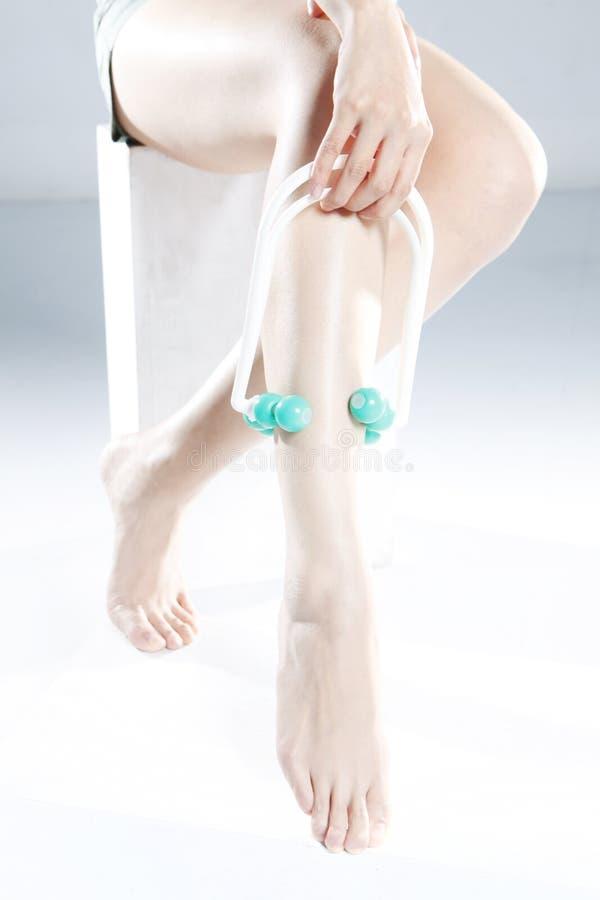 Leg Massage Stock Photo