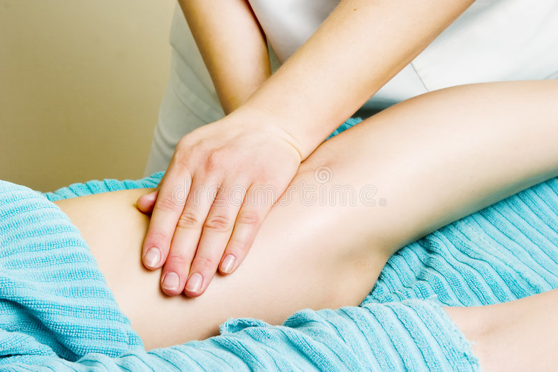 Leg Massage Detail stock image