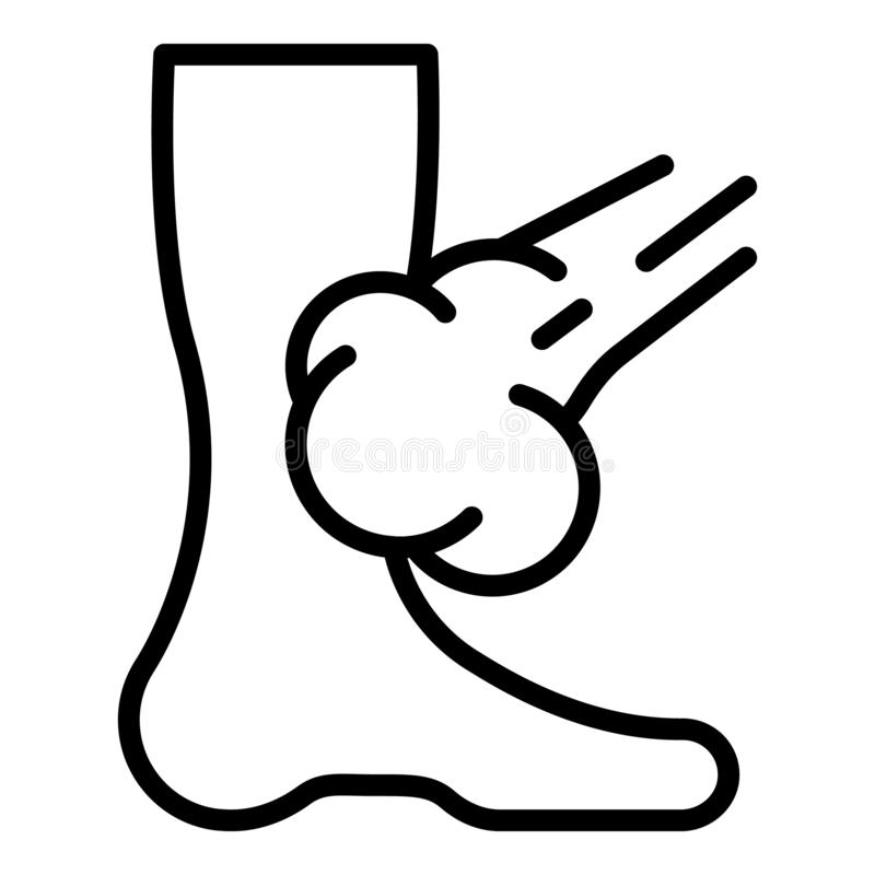 Leg mite spray icon, outline style. Leg mite spray icon. Outline leg mite spray vector icon for web design isolated on white background royalty free illustration