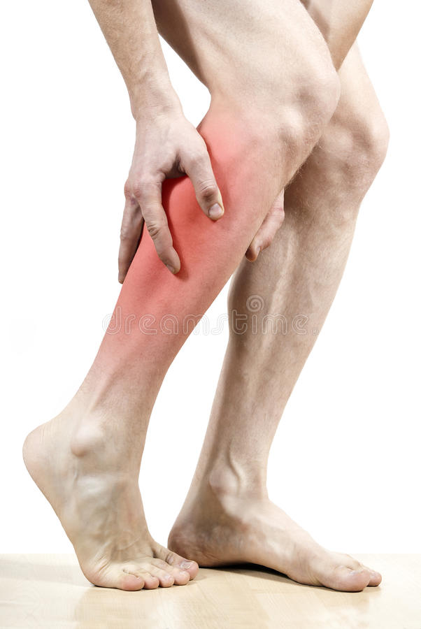 Download Leg Pain Feet Marked In Red Stock Image - Image: 24035757
