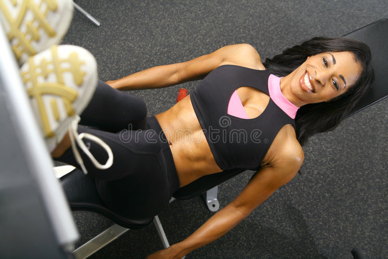 Leg Press Fitness stock image