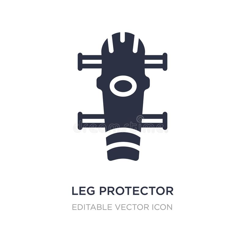 Leg protector icon on white background. Simple element illustration from Security concept. Leg protector icon symbol design vector illustration